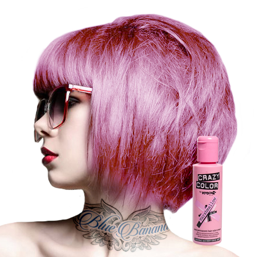 Super Crazy Color Semi Permanent Hair Dye Cream By Renbow 100ml Bottle  DB79