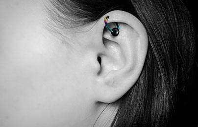 Helix Piercings Cartilage Piercings Body Jewellery Information Uk