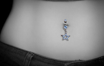 Polished Titanium Navel Bars Hypoallergenic Belly Bars Uk