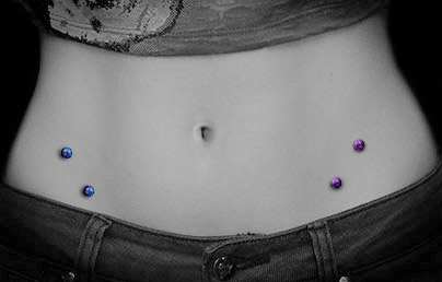 Hip Piercing, Surface ...