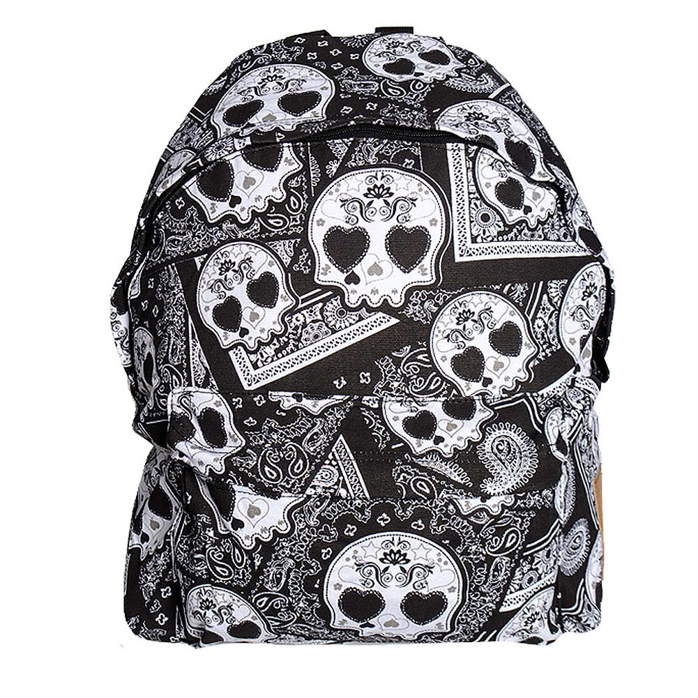 Bleeding Heart Sugarskull Backpack (Black)