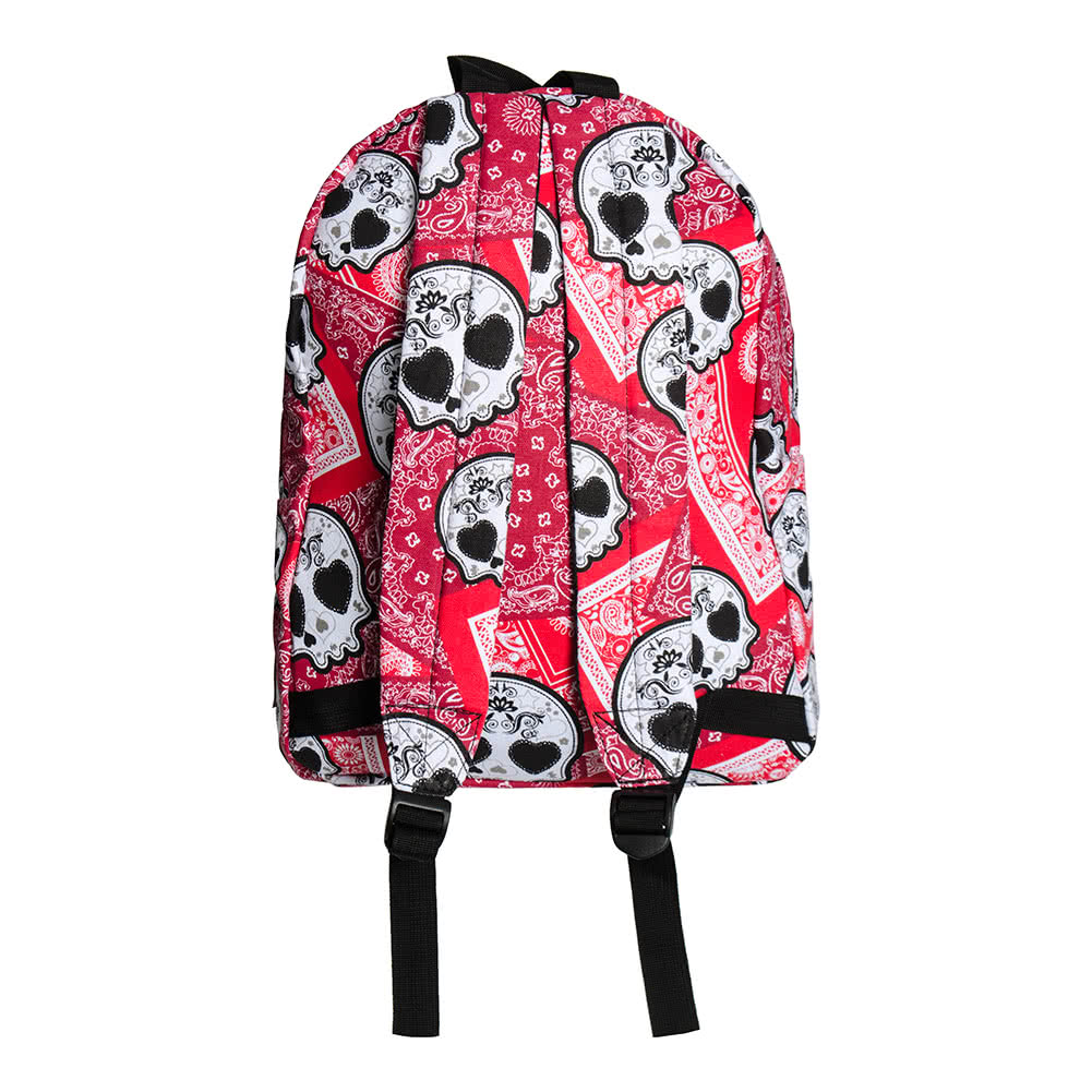 Bleeding Heart Sugarskull Backpack (Red)