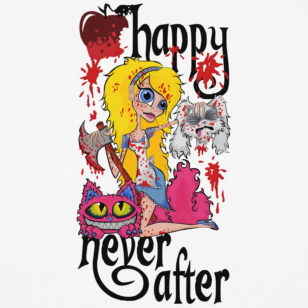 Happy Never After Alice Severed Head Vest Top (White)