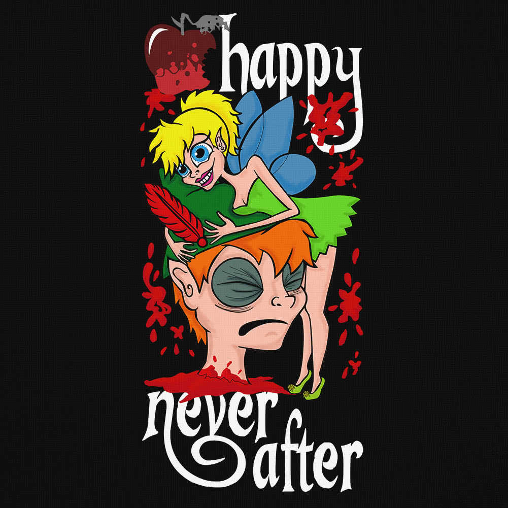 Happy Never After Tink Vest Top (Black)