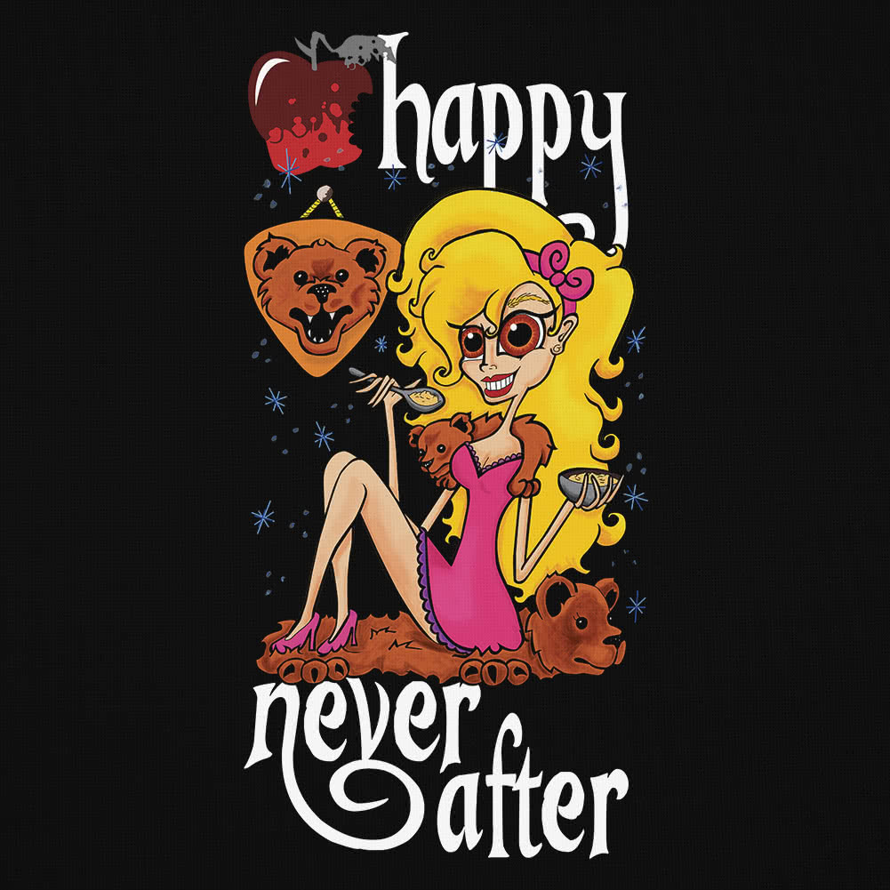 Happy Never After Bears Vest Top (Black)