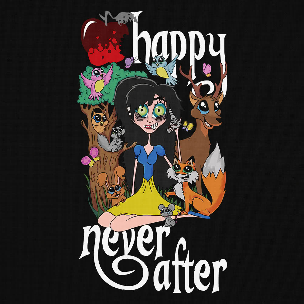 Happy Never After Snowy Vest Top (Black)