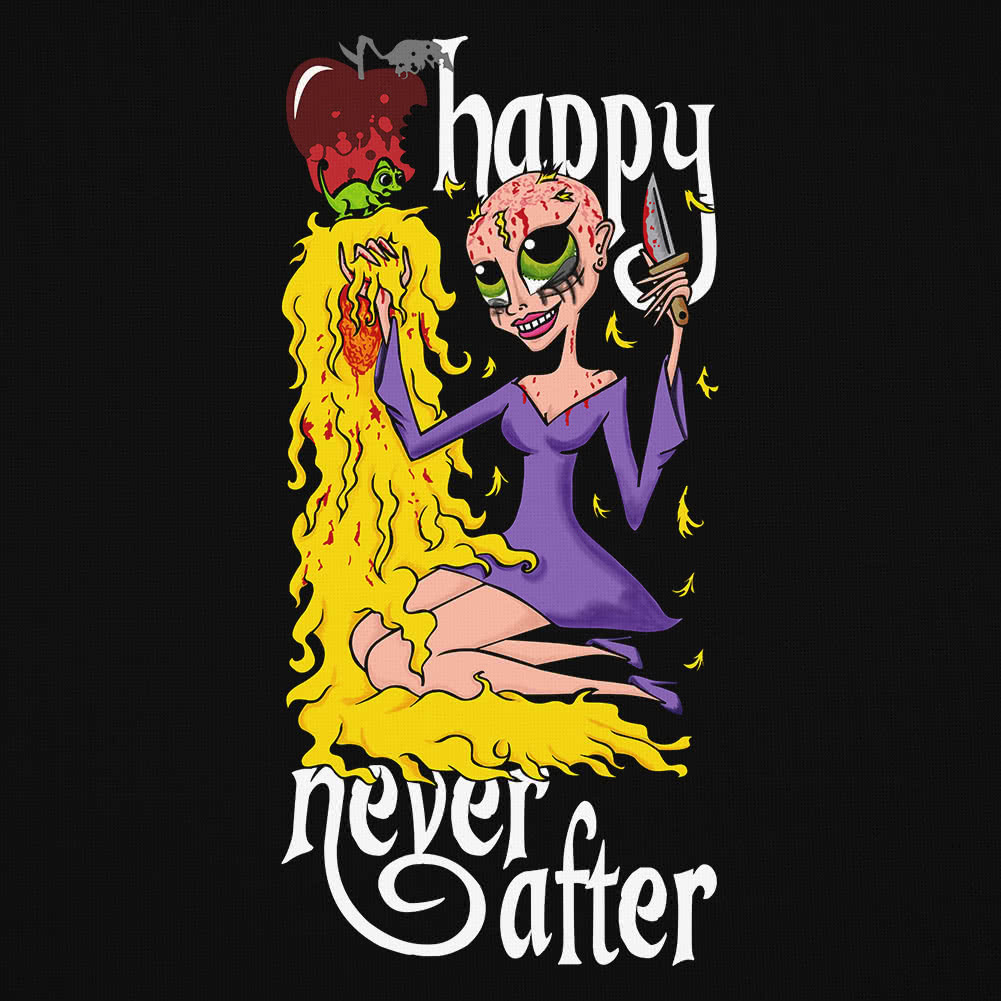 Happy Never After Bad Hair Day Vest Top (Black)