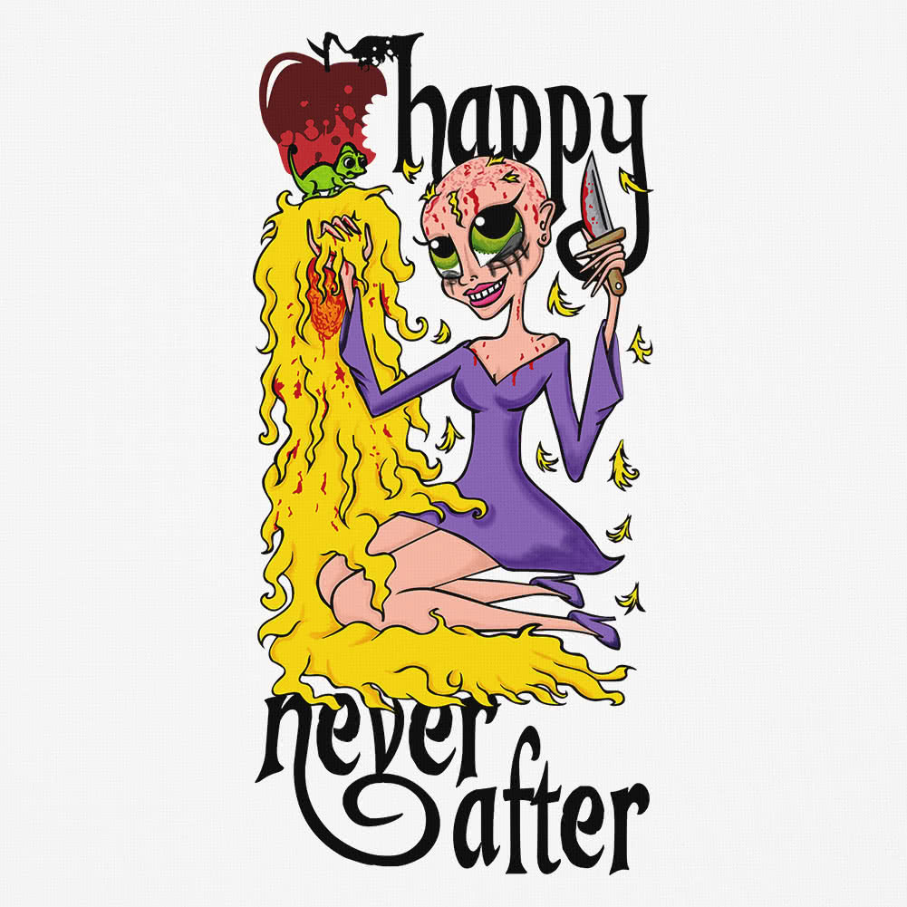 Happy Never After Bad Hair Day Vest Top (White)