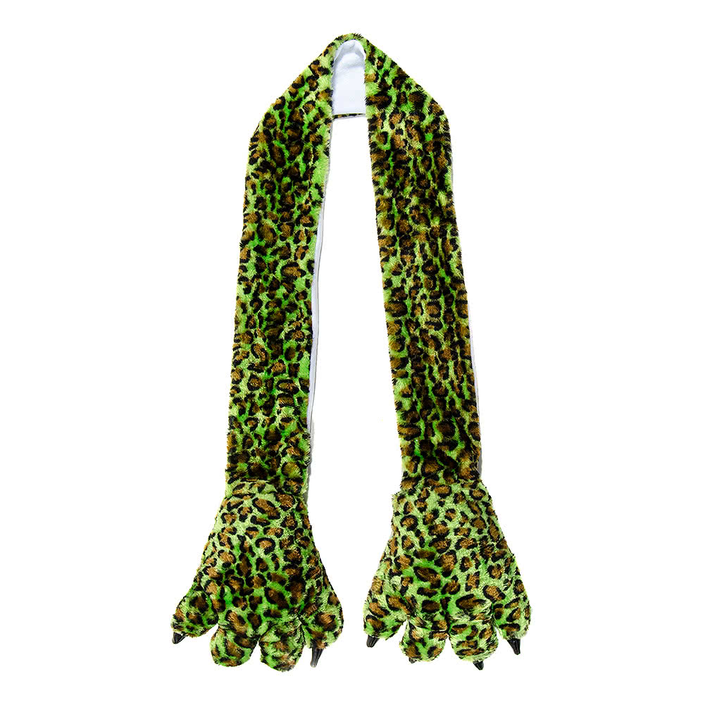 Blue Banana Leopard Scarf (Green)