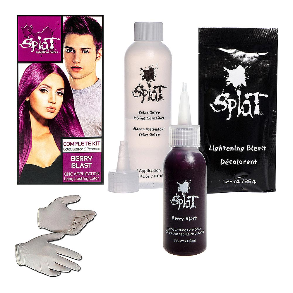 Splat Long Lasting Semi-Permanent Hair Dye Kit 86ml (Berry Blast)