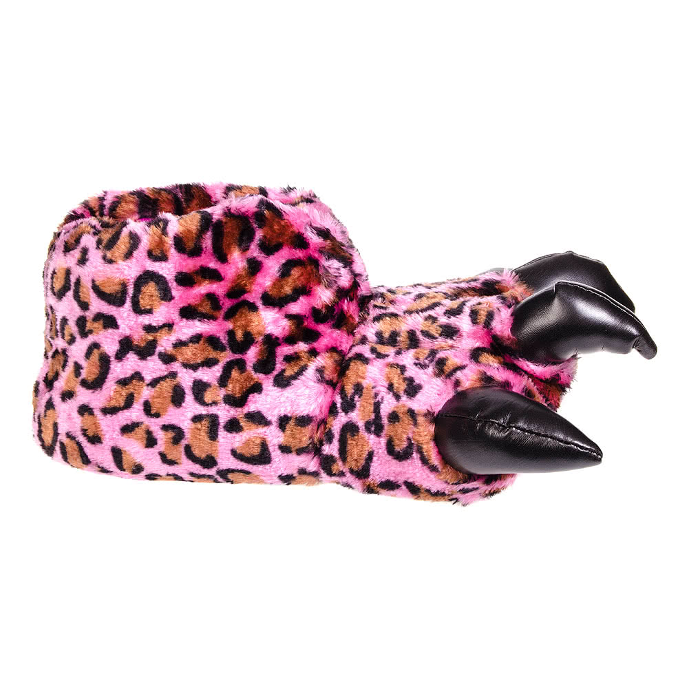 Blue Banana Leopard Print Claw Slippers (Pink)