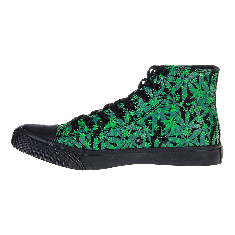Bleeding Heart Canvas Leaf Boot (Black/Green)