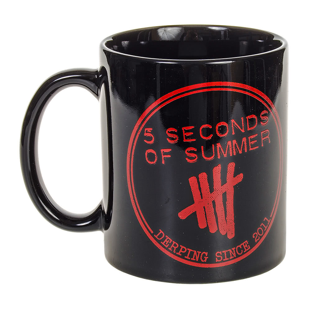 Official 5 Seconds Of Summer Tally Mug (Black)