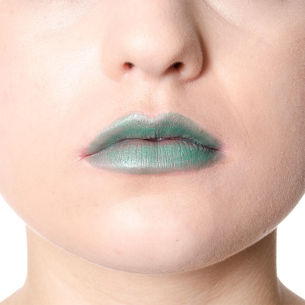 Manic Panic Ice Metals Lethal Lipstick (Green Envy)