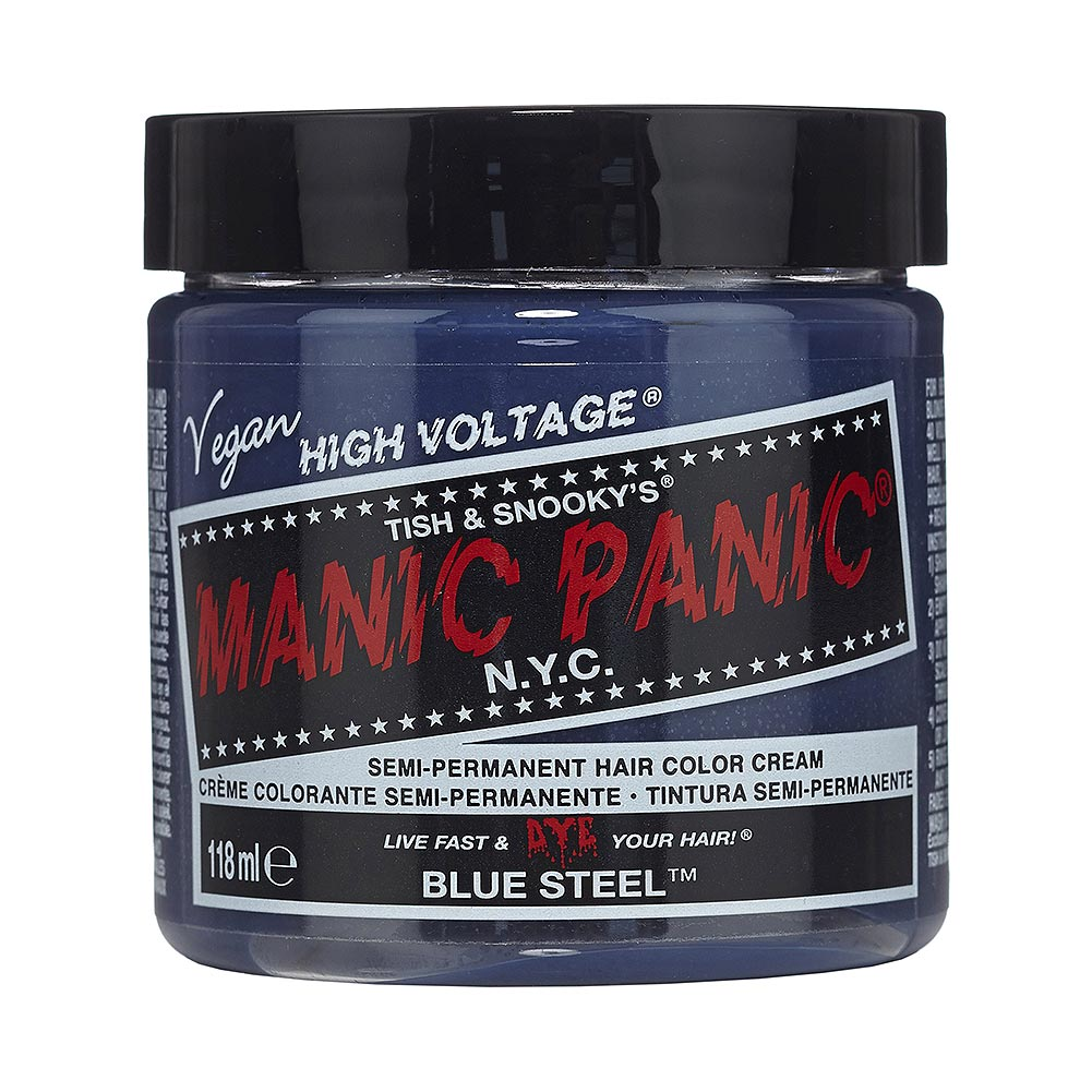 Manic Panic High Voltage Classic Cream Formula Colour Hair Dye 118ml (Blue Steel)