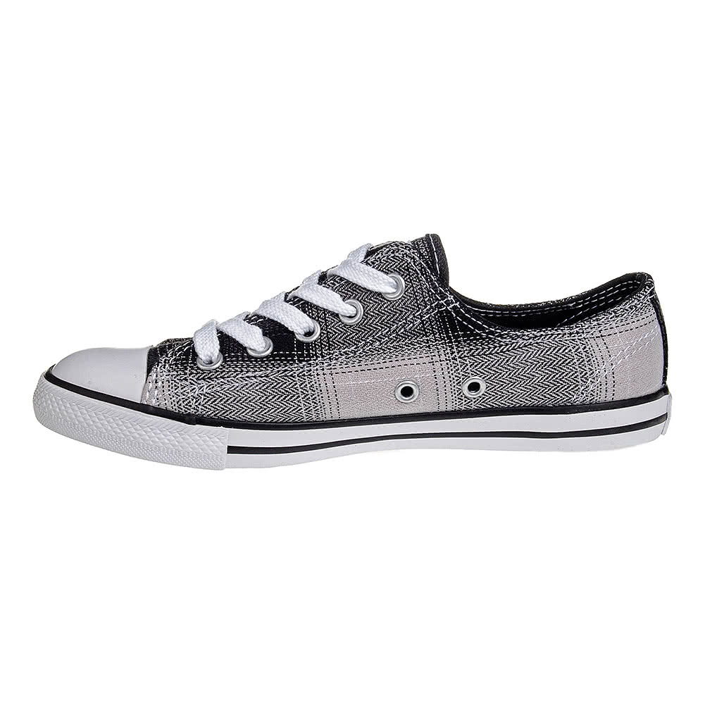 Converse All Star Dainty Plaid Shoe (Black/White)