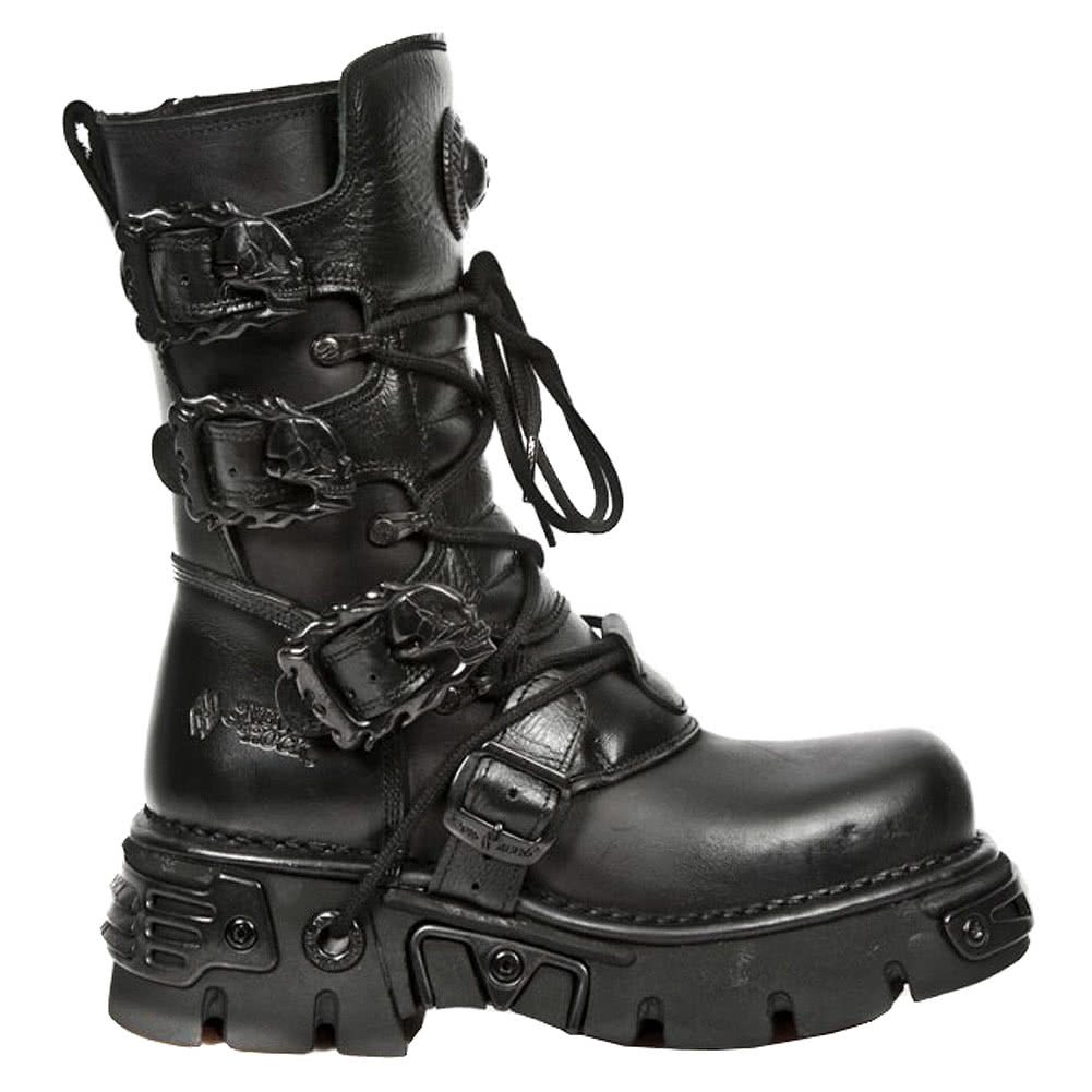New Rock M.391-S18 Reactor Calf Boots (Black)