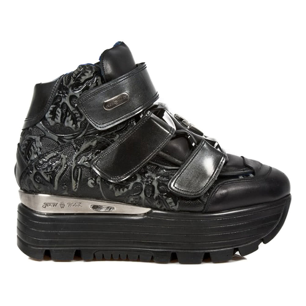 New Rock Style M.URBAN003-S3 Platform Shoes (Black)