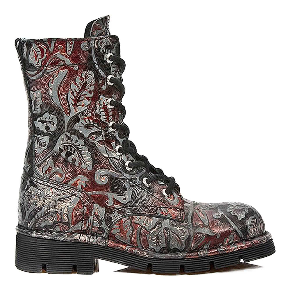 New Rock M.1423-S21 Flower Stiefel (Rot)