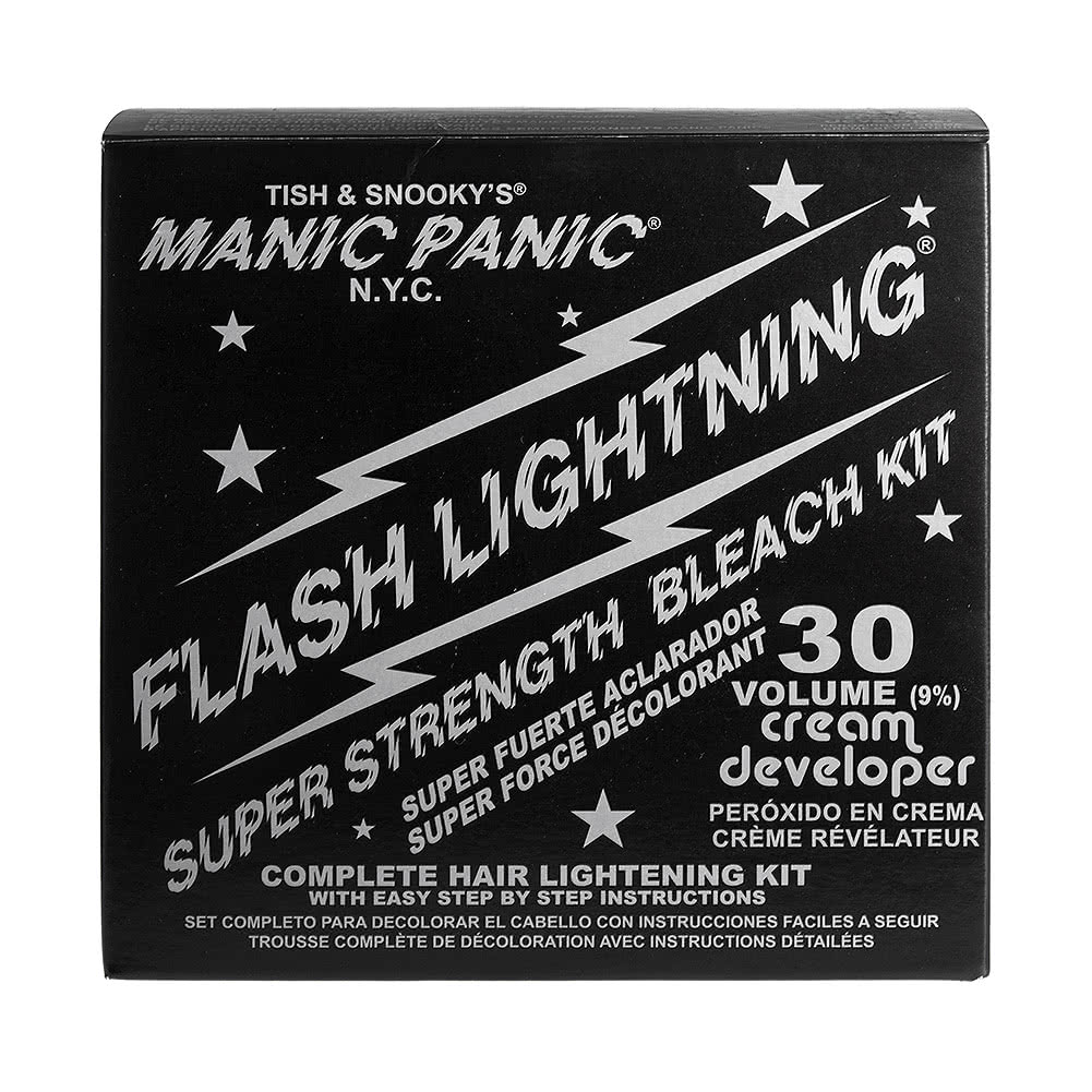 Manic Panic Flash Lightning Bleach Kit (30 Volume Cream Developer)