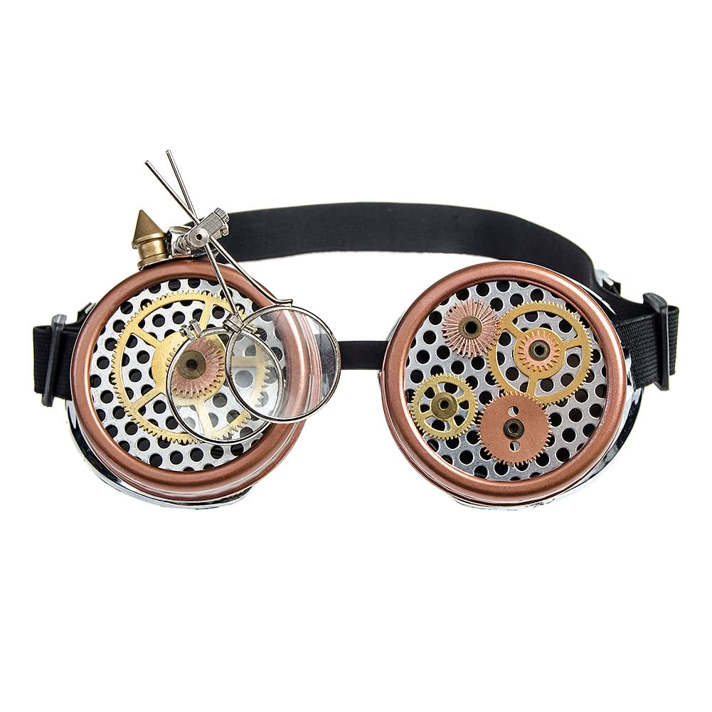 Solstice Loupes & Cogs Goggles (Silver & Copper)