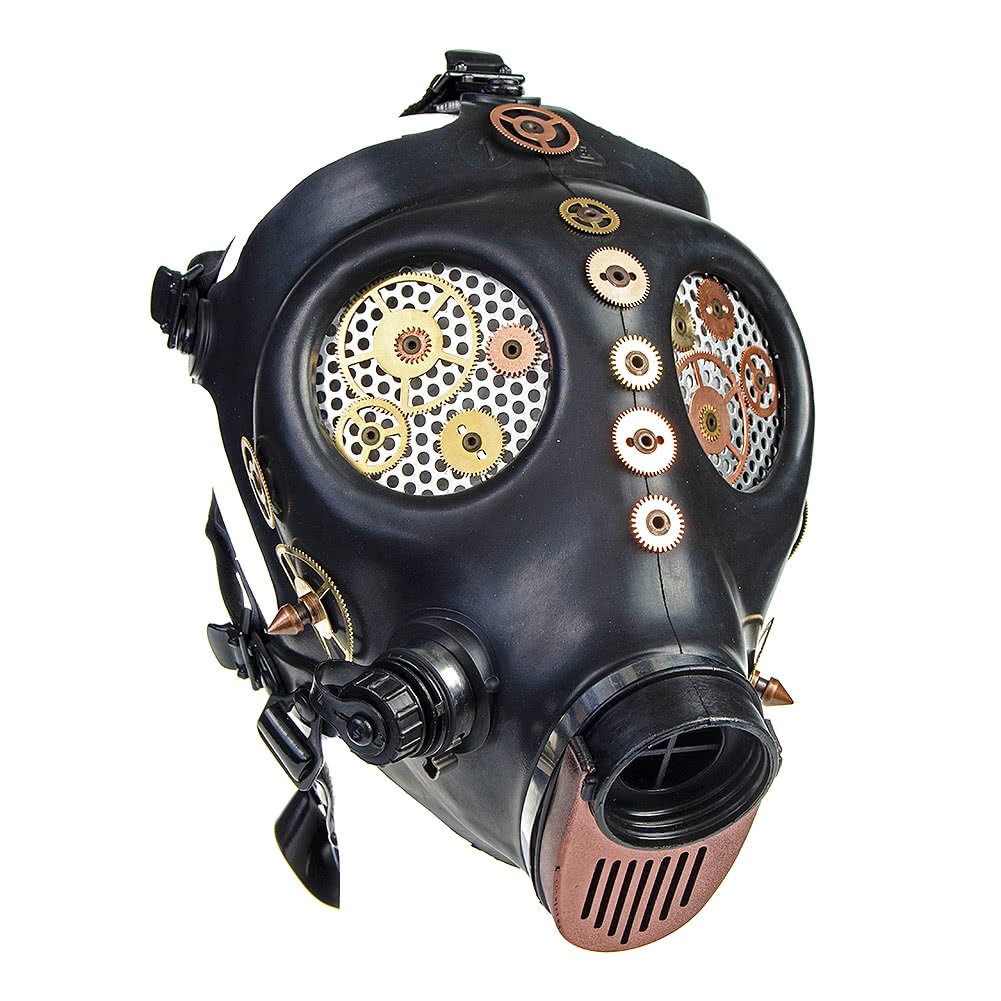 Solstice Cogs Gas Mask (Black/Copper)