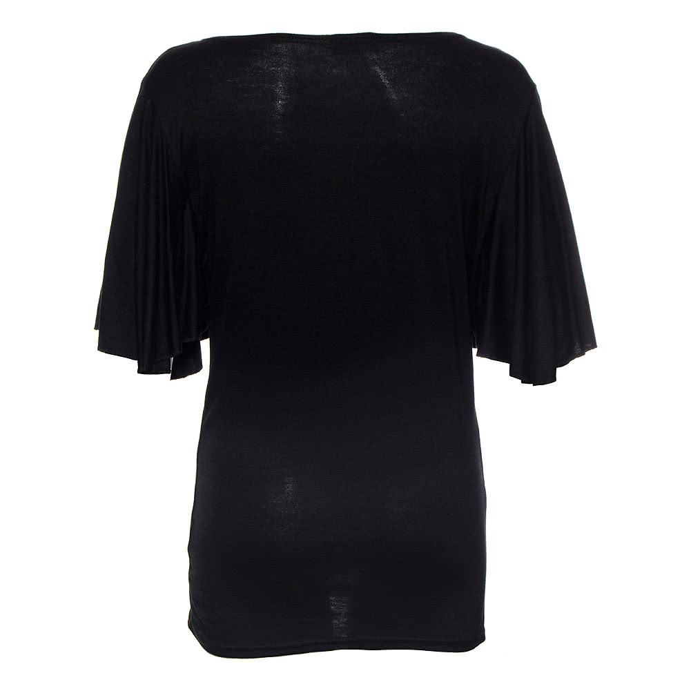 Spiral Direct Entwined Roses Top (Schwarz)