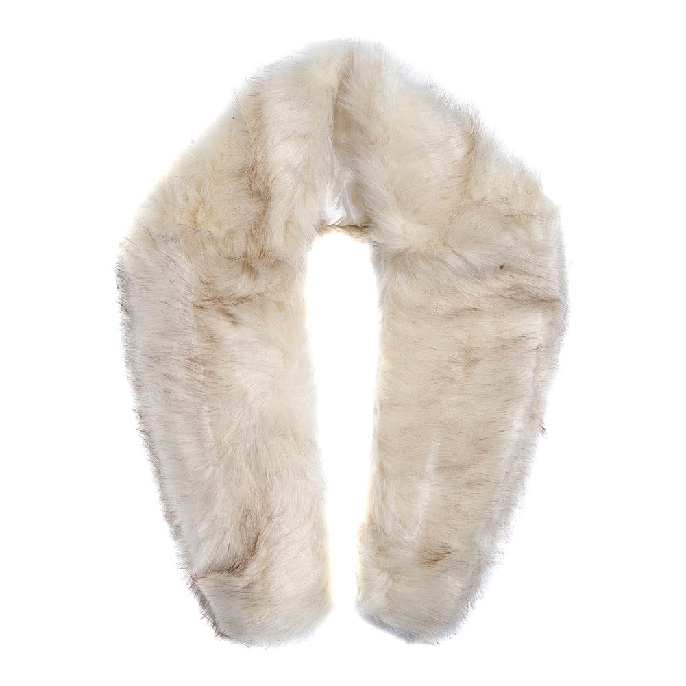 Blue Banana Faux Fur Stole (White)
