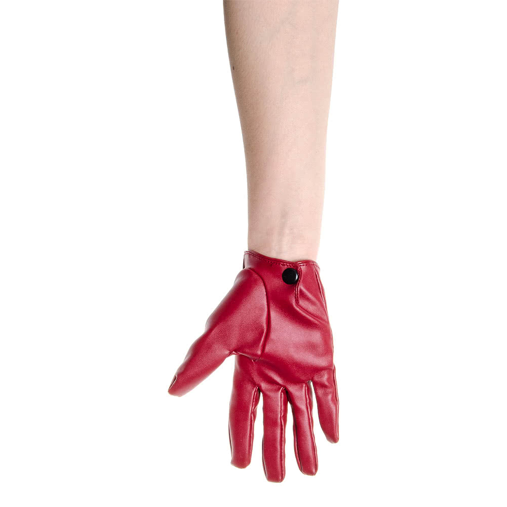 Short Bows & Cut Outs Gloves (Red)