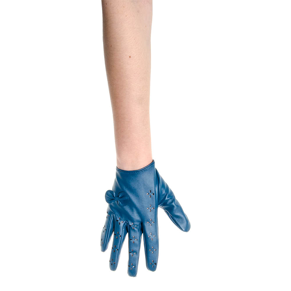 Short Bows & Cut Outs Gloves (Turquoise)