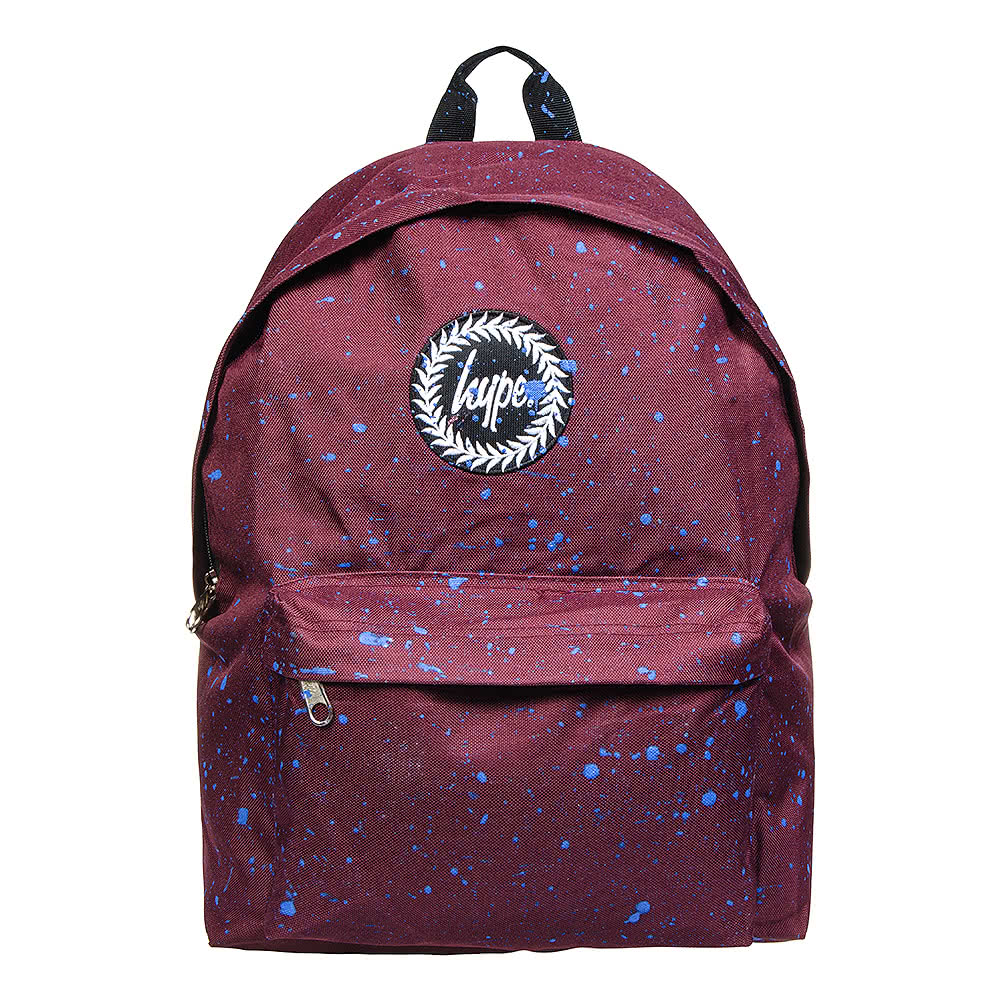 Hype Burgundy And Blue Paint Speckle Backpack Hype