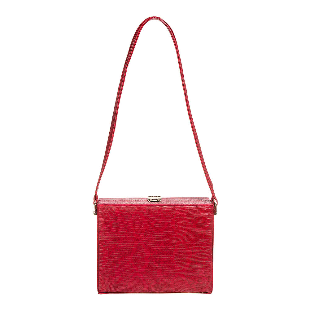 Blue Banana Snakeskin Clutch Bag (Red)