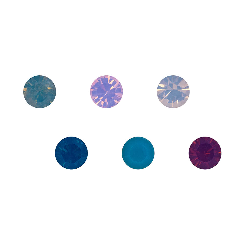 Blue Banana Swarovski Nose Stud 6 Pack (Multicoloured)
