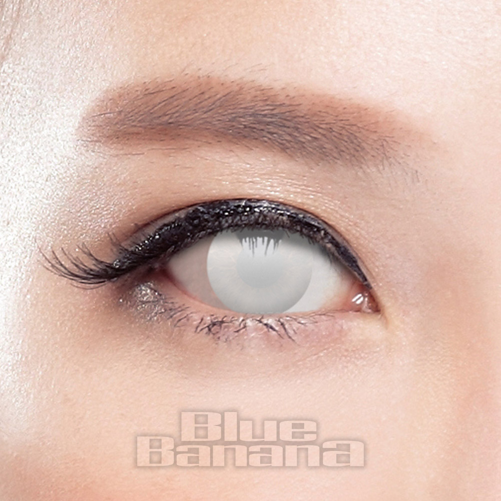 Blind Zombie Halloween 30 Day Coloured Contact Lenses (White)