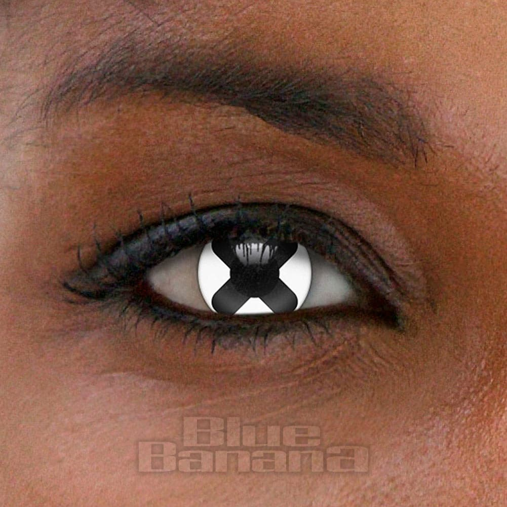 Cross 90 Day Coloured Contact Lenses (Black)