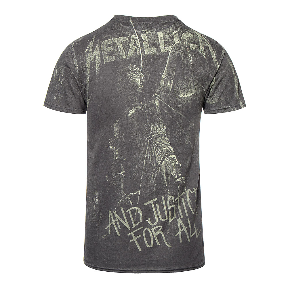 Official Metallica Justice Neon T Shirt (Grey)