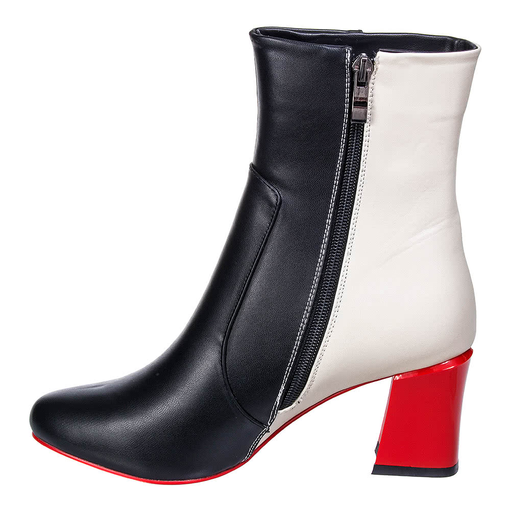 Banned Strawberry Fields Forever Ankle Boots (Black/White)