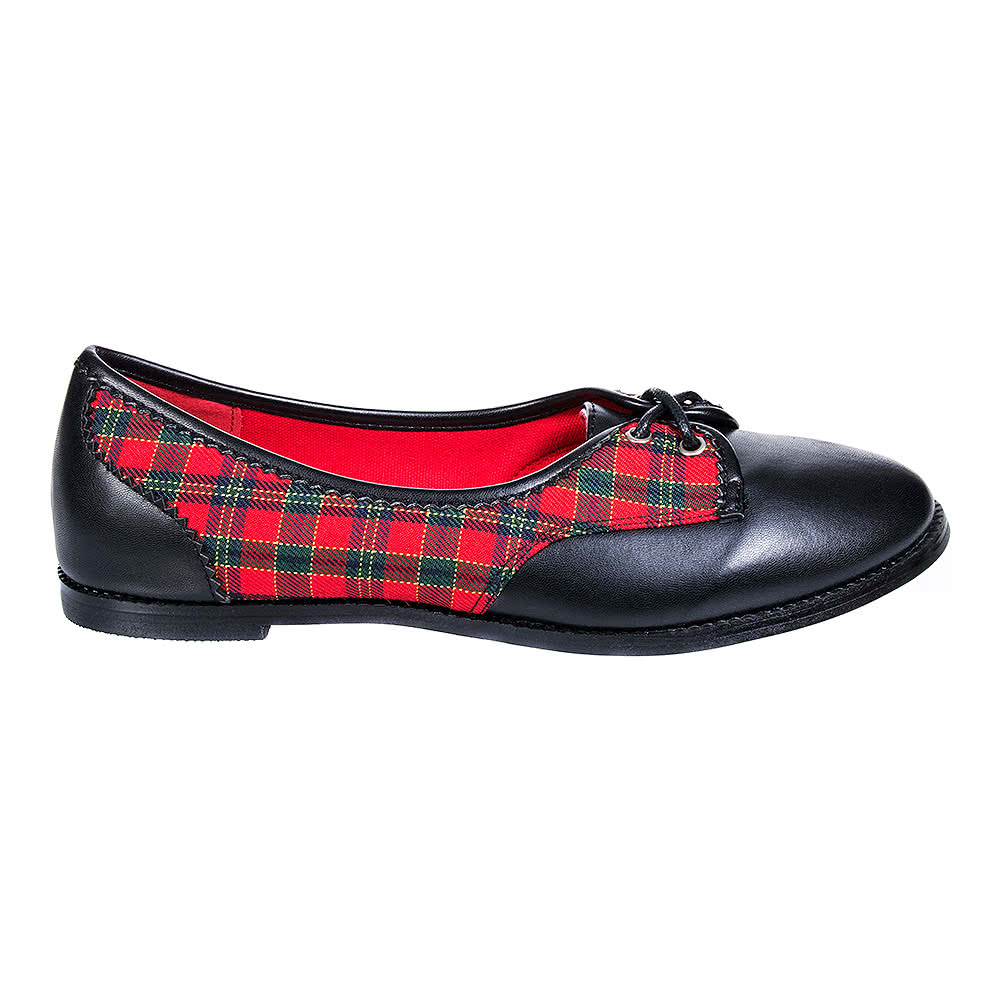 Banned Kendra Flat Shoes (Black/Red)