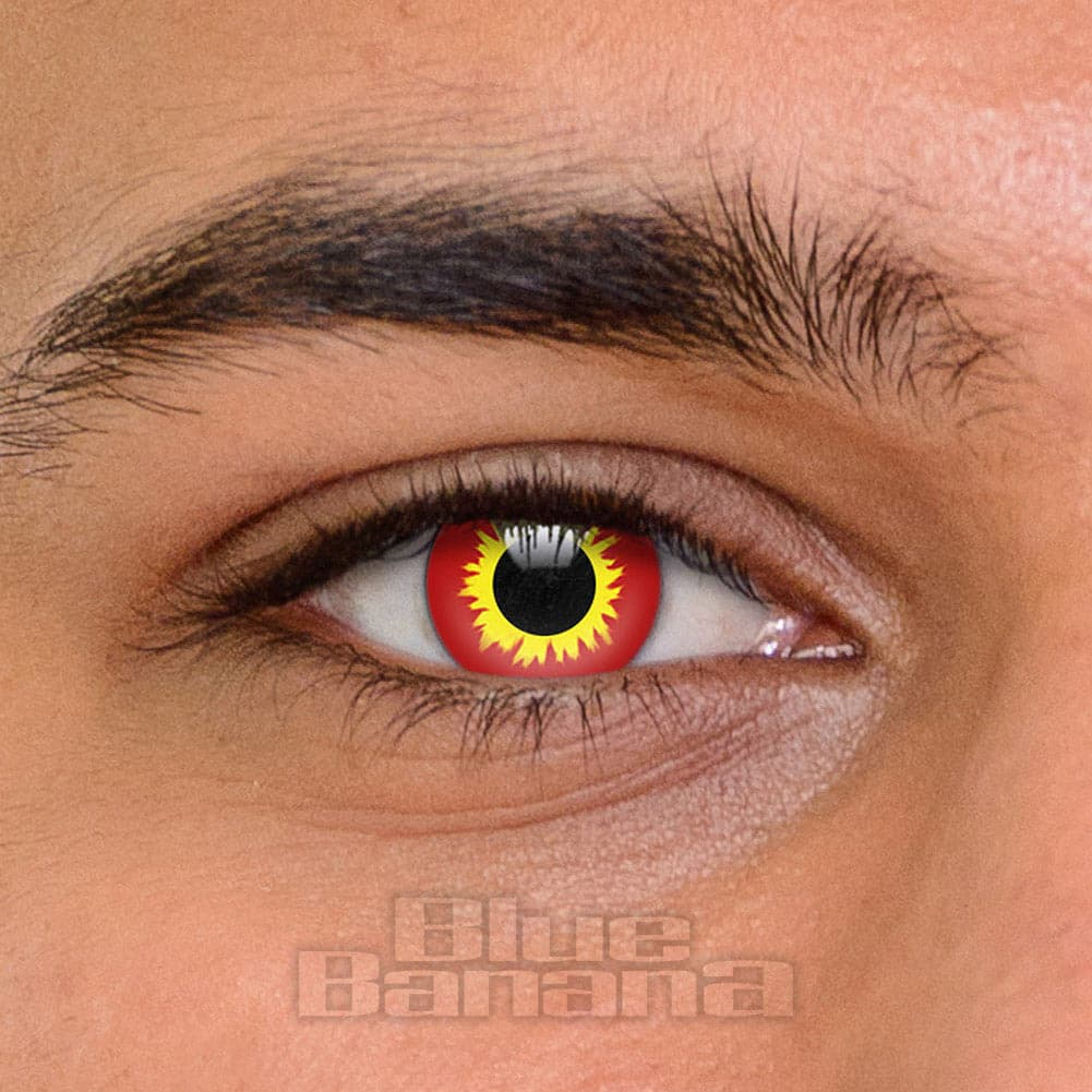 Wild Fire 1 Day Coloured Contact Lenses (Red)