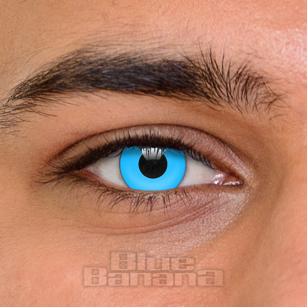 UV i-Glow 1 Day Coloured Contact Lenses (Blue)