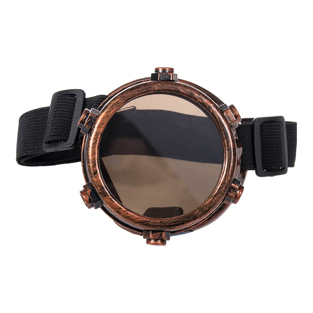 Blue Banana Steampunk Single Goggles (Bronze)