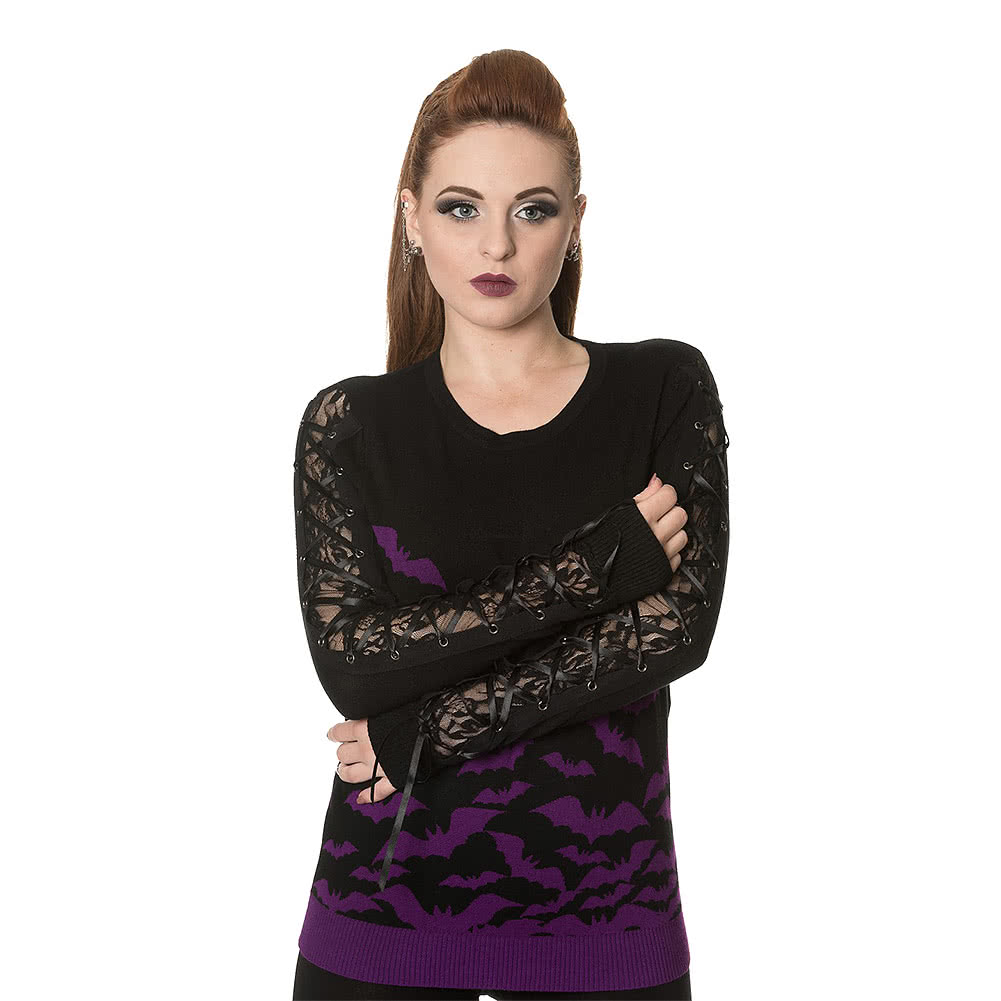 Banned Purple Bat Jumper (Black/Purple)