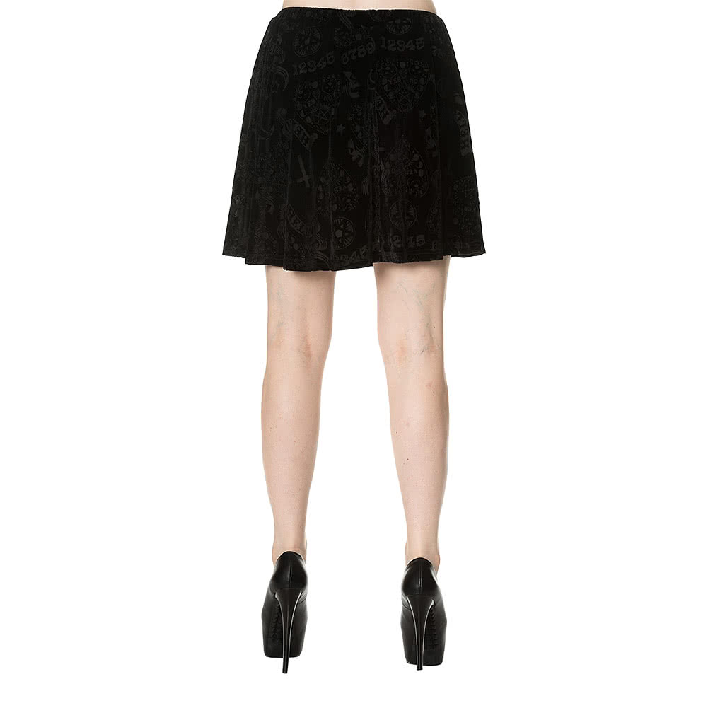 Banned Hello Velvet Skirt (Black)