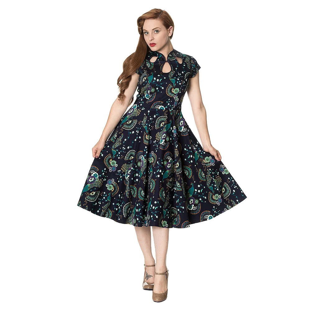 Banned Proud Peacock Dress (Blue)