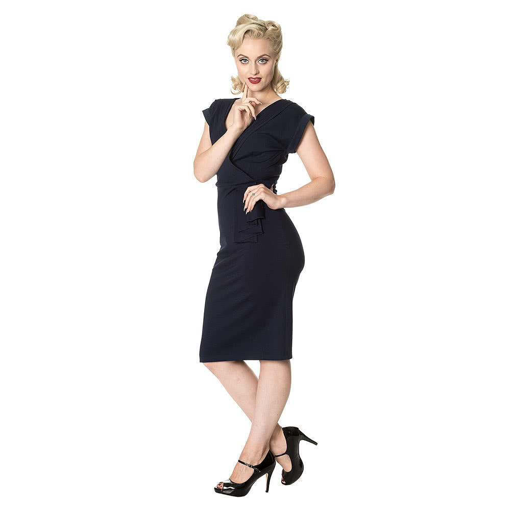 Banned Evening Chic Pencil Dress (Navy Blue)