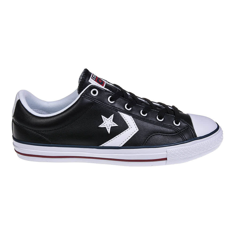 Converse Cons Star Player Leather Shoes (Black/White)