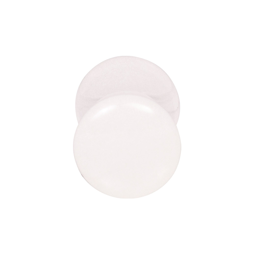 Blue Banana Acrylic Glow In The Dark Ear Plug 2-20mm (White)