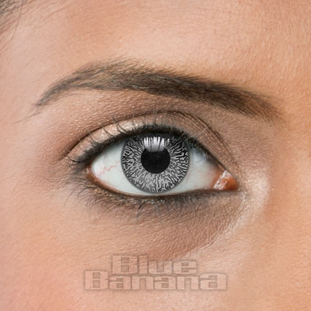 Mystic 1 Day Daily Grey Silver Coloured Contact Lenses ...