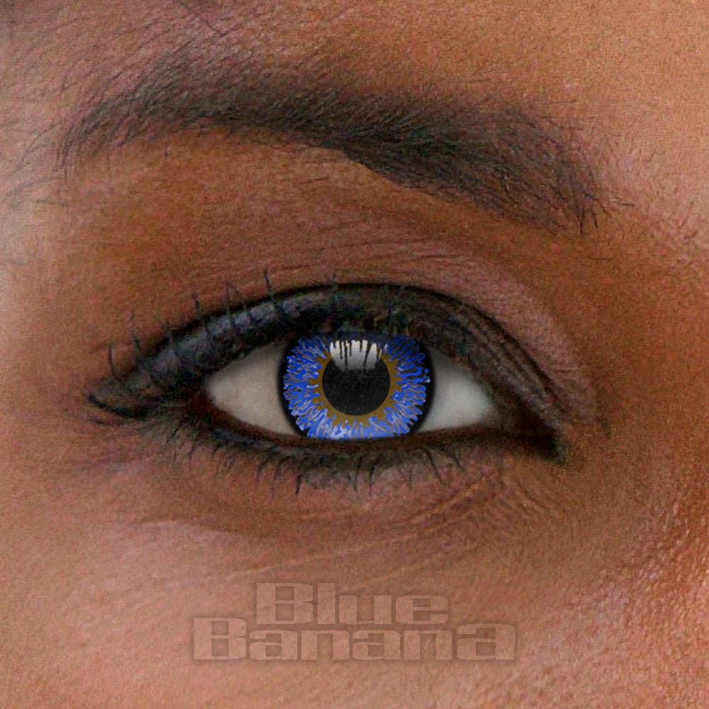 Tri Tone 1 Day Coloured Contact Lenses (Blue)