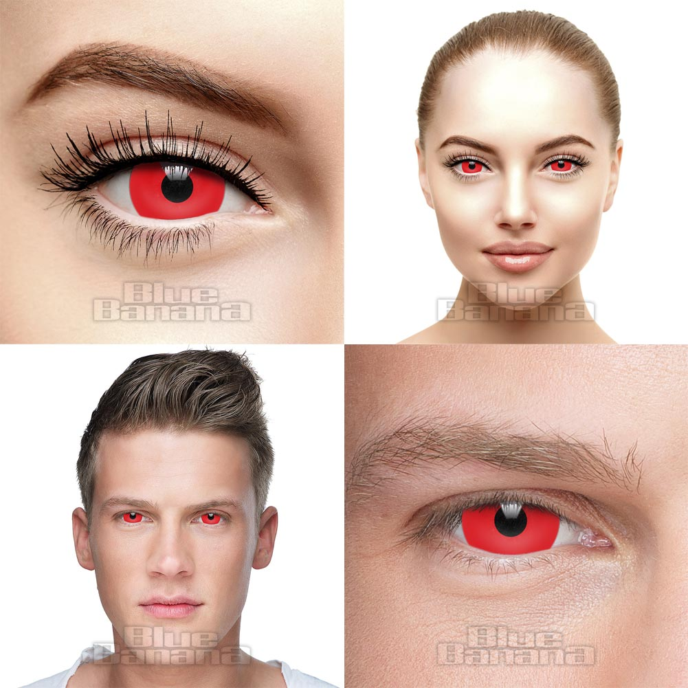 Mini Sclera 1 Day Coloured Contact Lenses (Red)